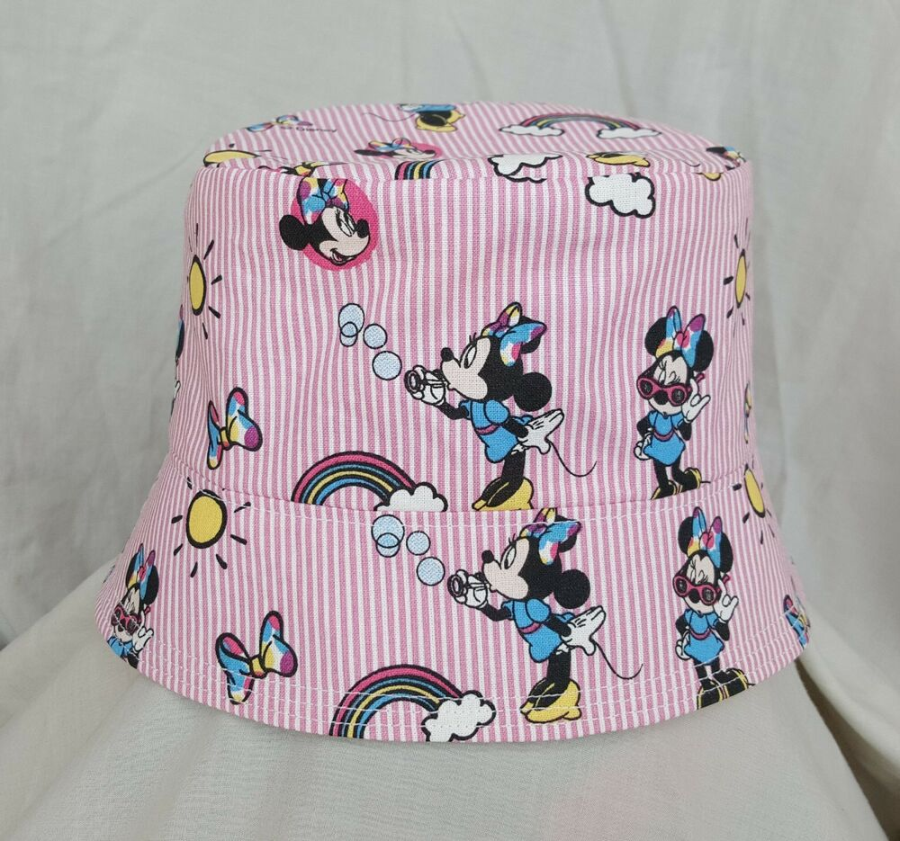 Details about NEW GIRLS PINK MINNIE MOUSE BUCKET HAT SUN HAT. SZ M. DISNEY.  HOLIDAYS. 8037456cb40