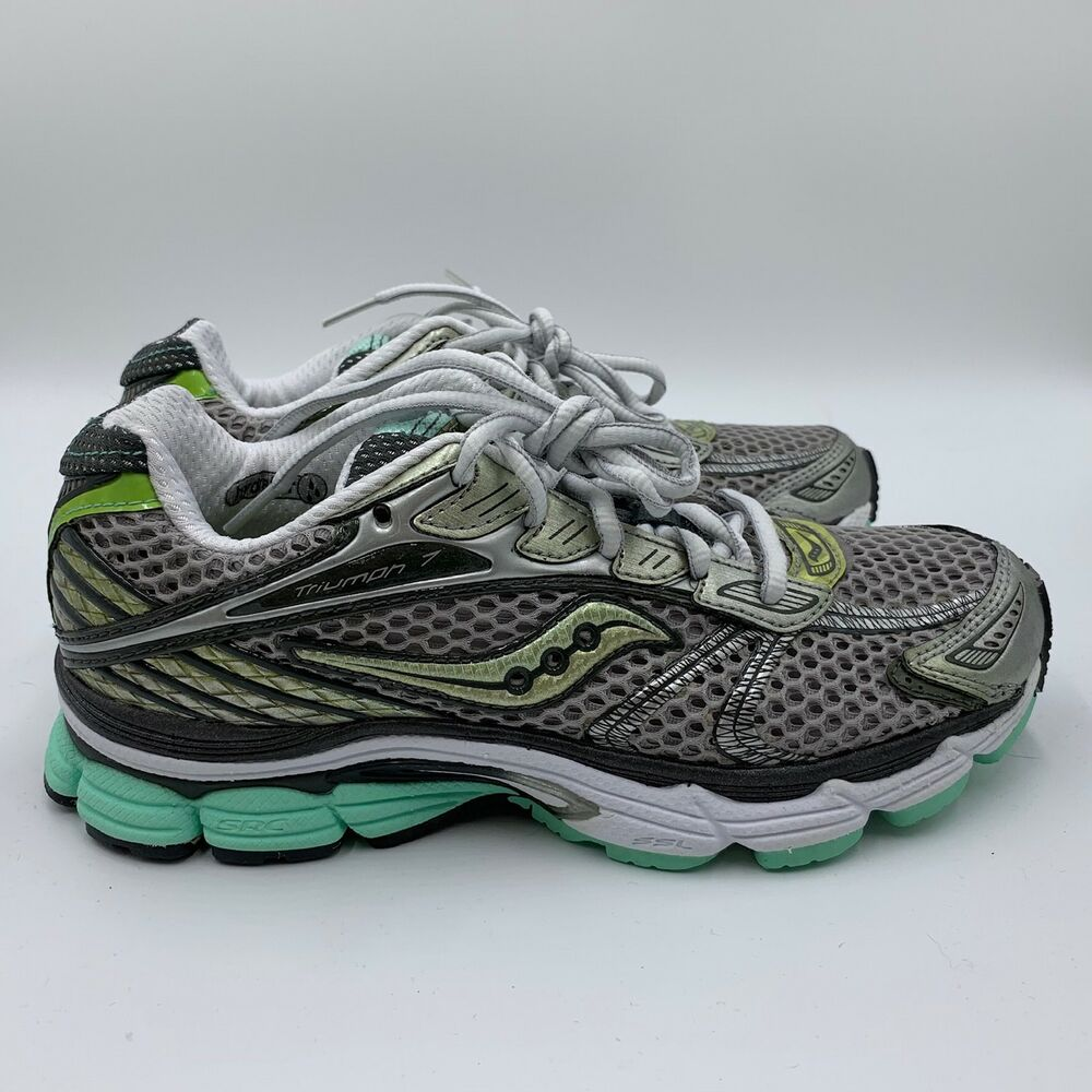 Us 7 Size Progrid Neutral Gray Running Shoes Saucony 8 Triumph Green YvI7f6ymbg