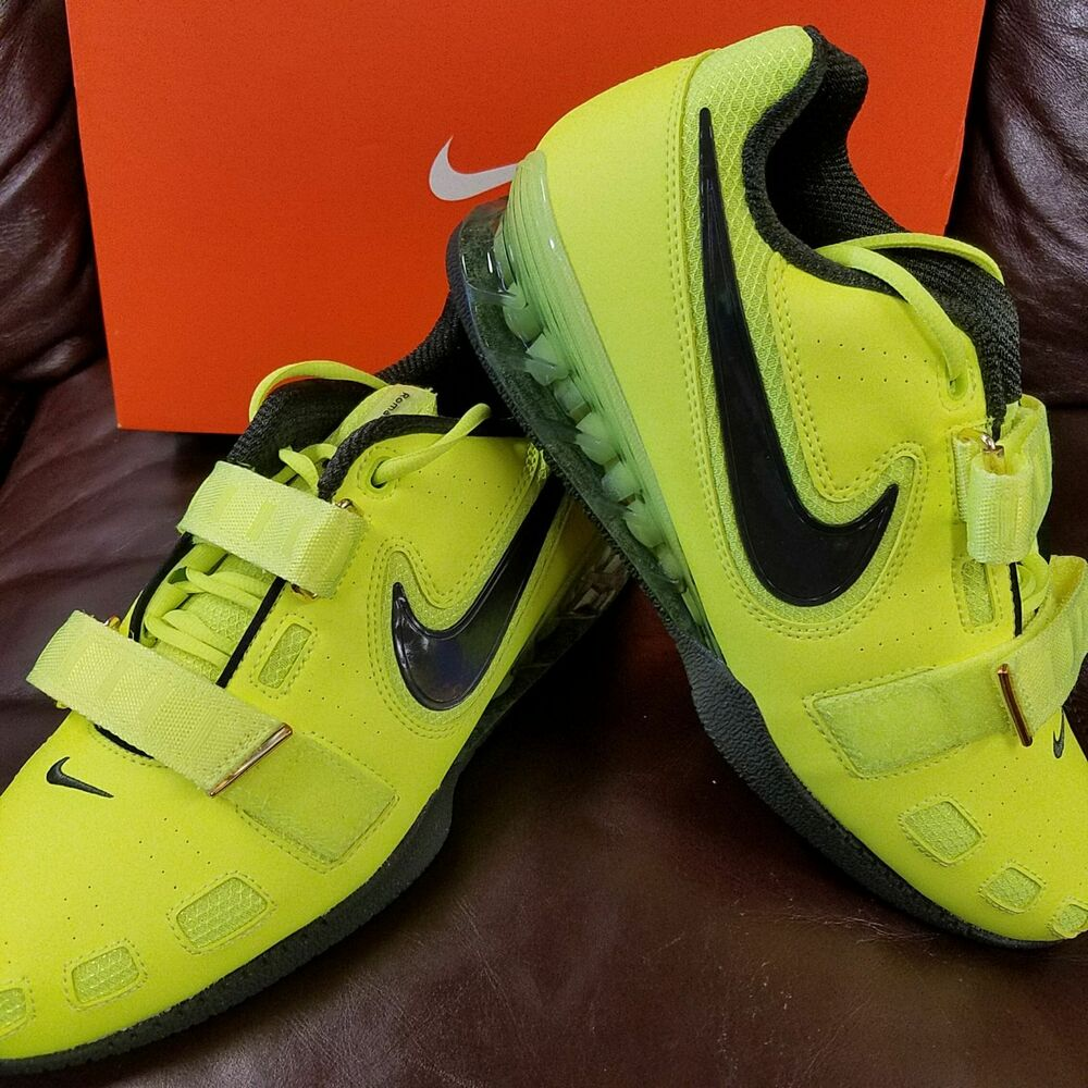 Details about BRAND NEW IN BOX! NIKE ROMALEOS 2 MENS WEIGHTLIFTING SHOES  NEON YELLOW BLACK 730 3154e8895