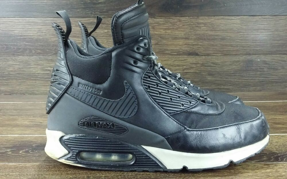 super popular 53a82 3abe9 Details about Nike Air Max 90 Sneakerboot Black Grey WaterProof Mens Shoes  Sz 10.5 684714-001