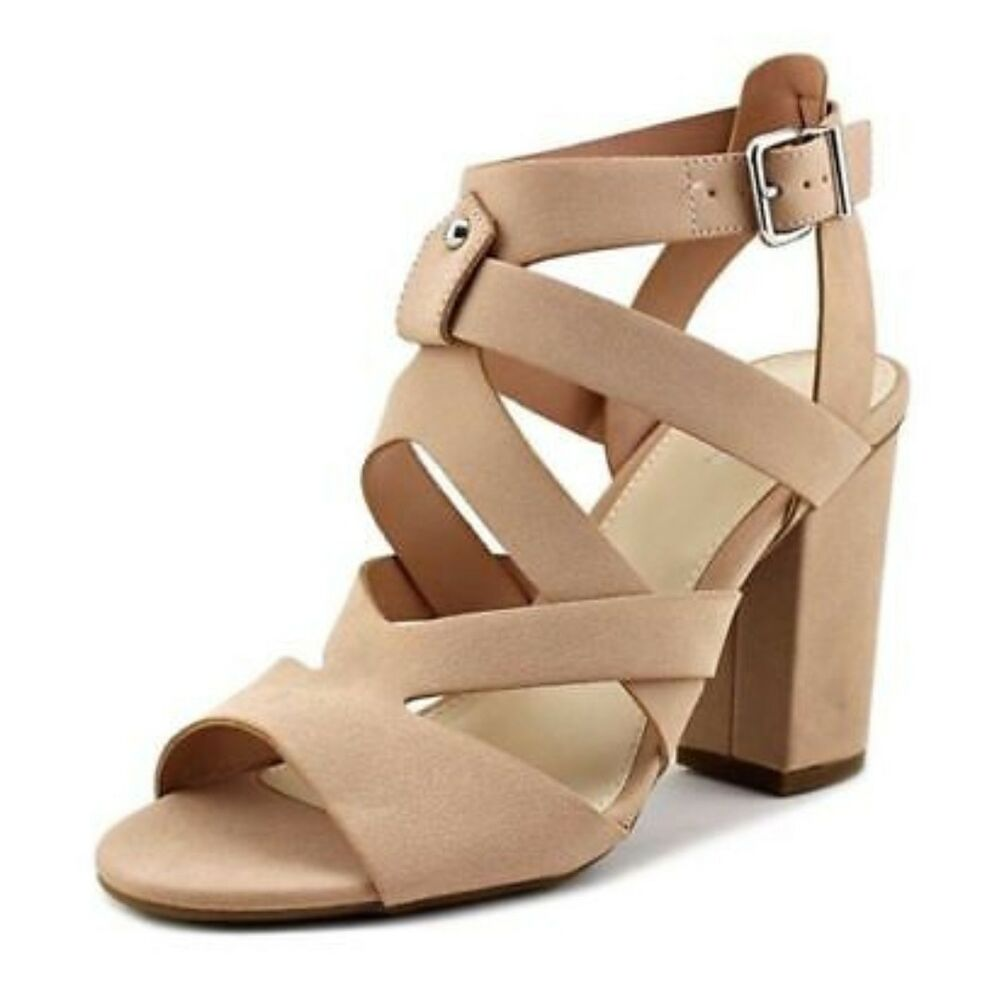 c25d76fc20a Details about Bar III Blush Block Heel Sandal