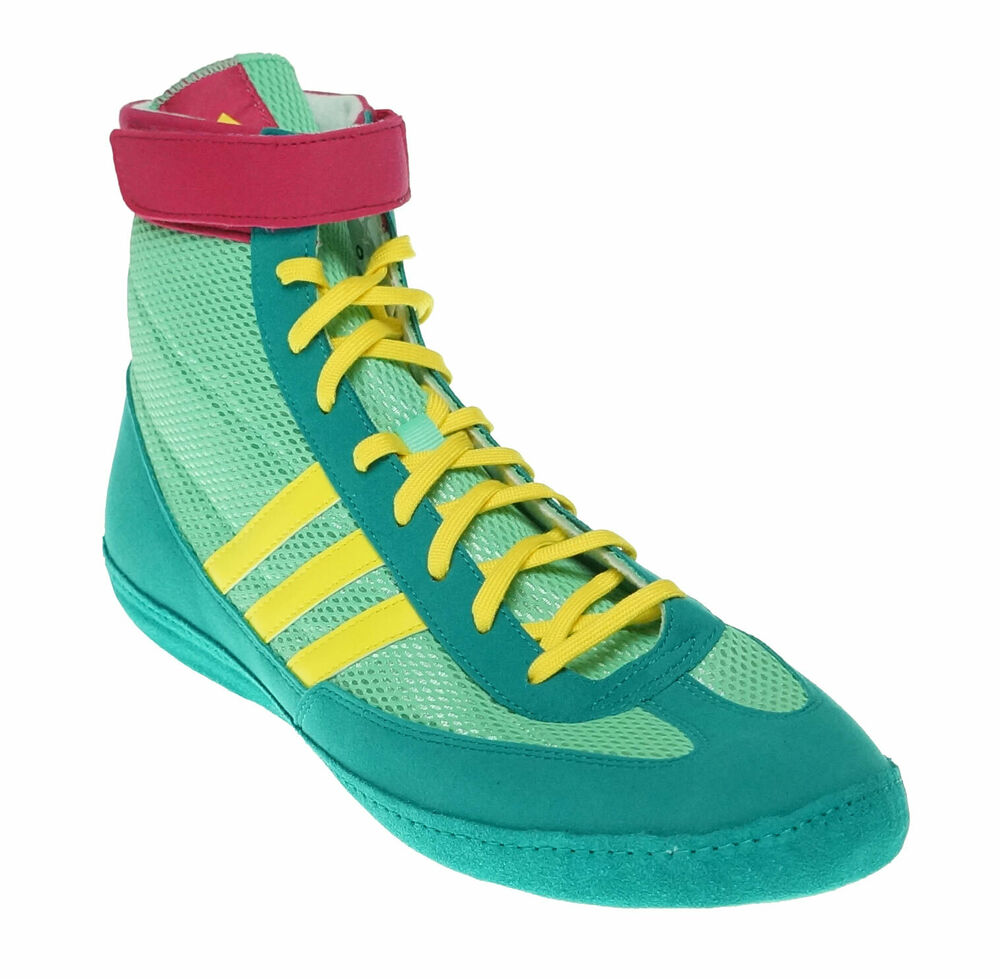 311235eaaa46 Adidas Men s Combat Speed 4 Wrestling Athletic Shoes Turquoise Green Pink