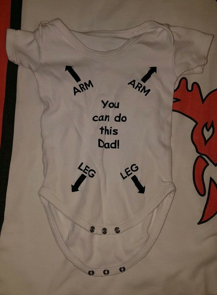 16055e3f4 Novelty baby grow (You Can Do This Dad) | eBay