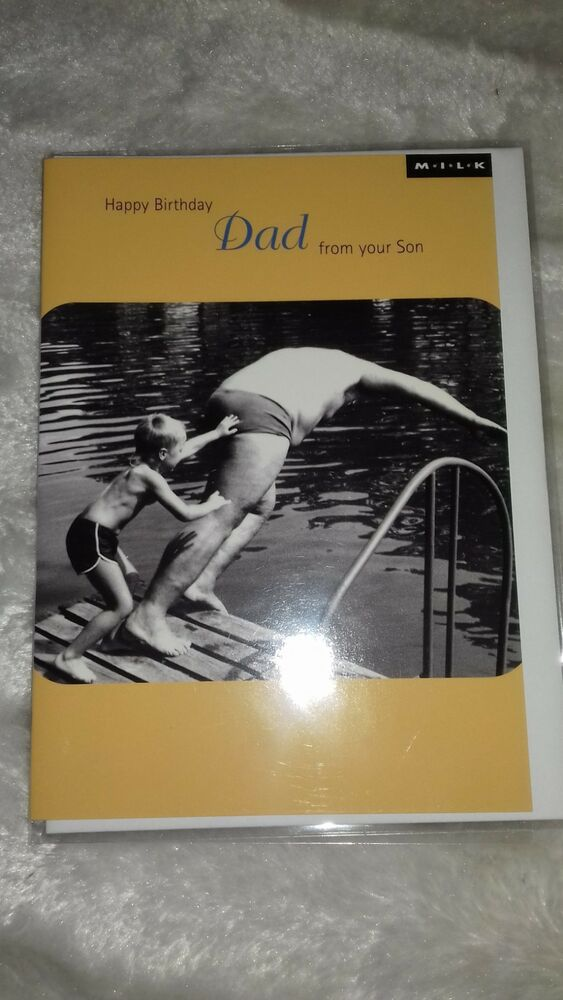 Details About Funny Humerous Happy Birthday Dad From Son Card
