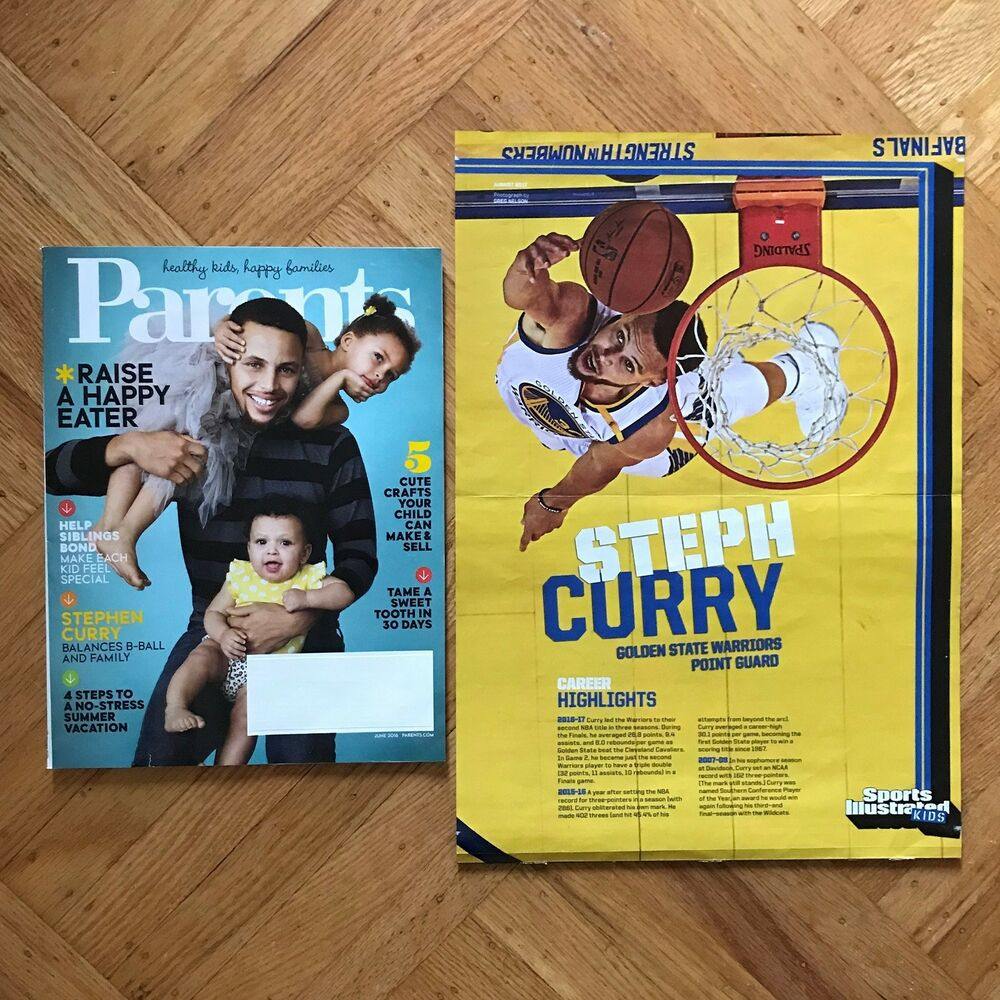 Stephen Curry Parents Magazine June 2016 And Poster From Sports