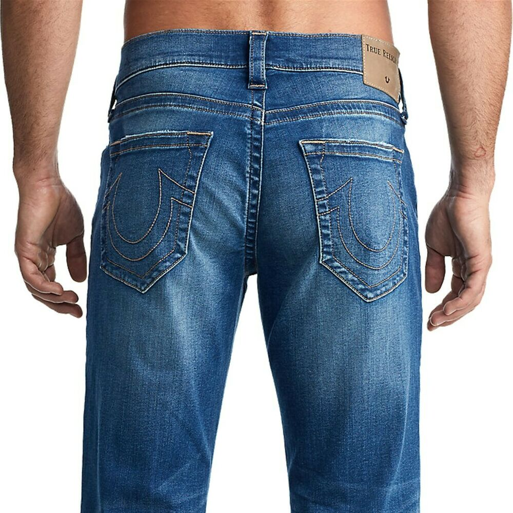 4a2d78fe278a6 True Religion Men s Ricky Straight Fit Stretch Jeans in Supernova Blues