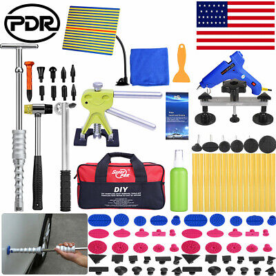 97× PDR Tools Dent Puller Lifter Paintless Hai Ding Removal Repair Hammer Kits