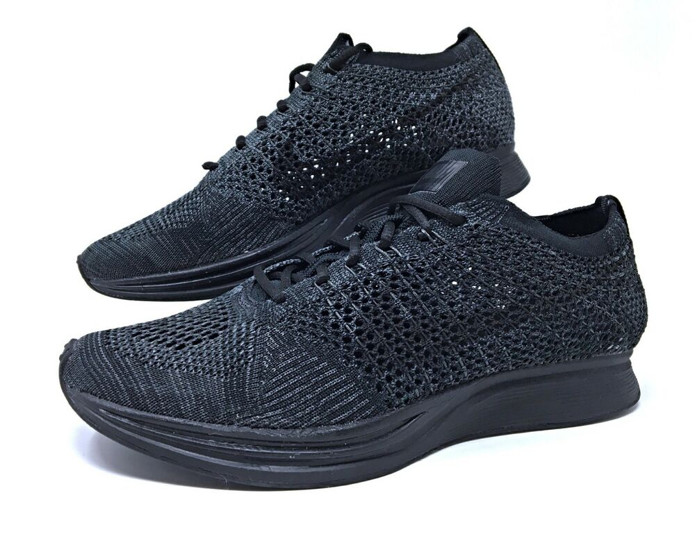 cac136a208f9 50% off details about nike flyknit racer triple black anthracite mens womens  running shoes 526628
