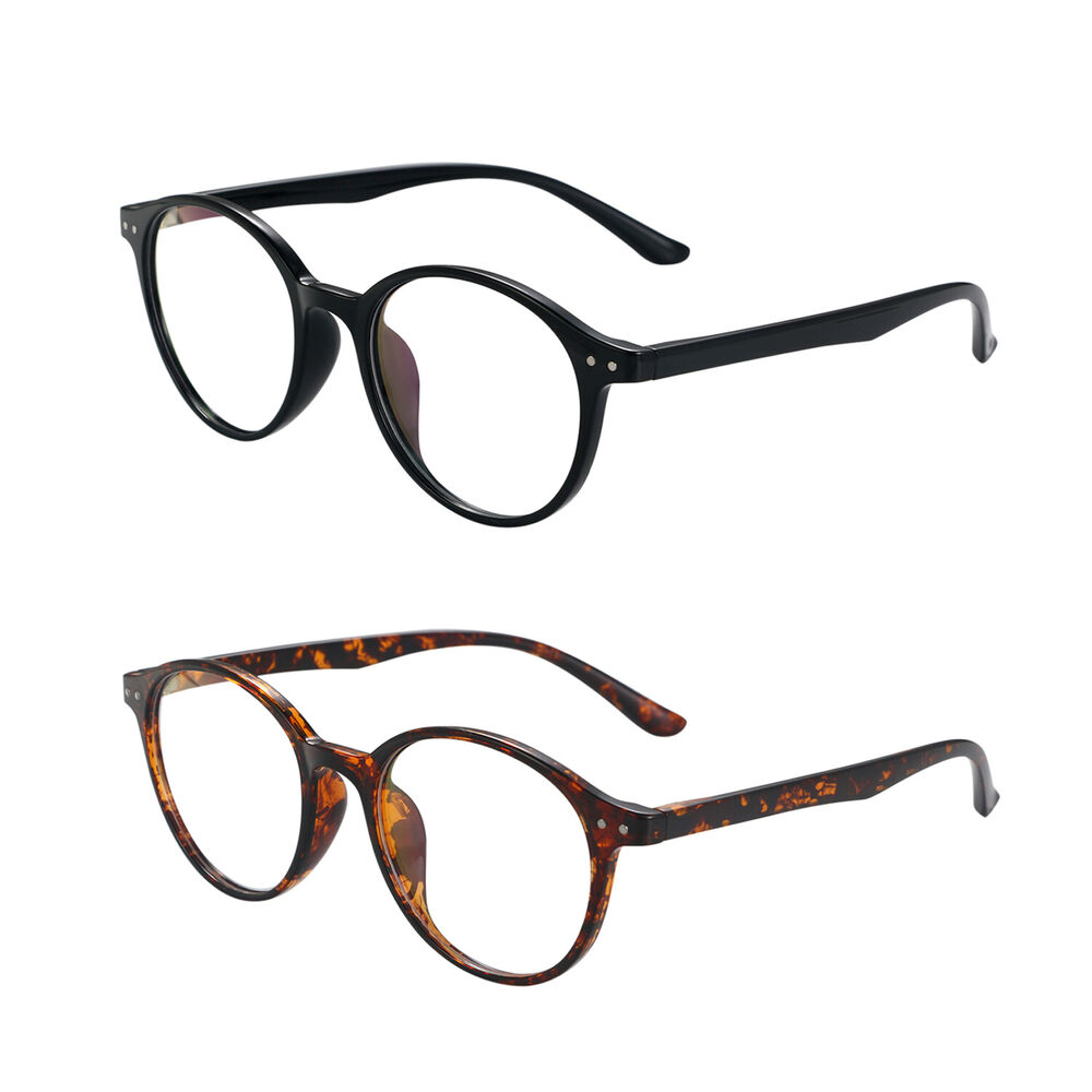 5f7a0faa254 Details about Fashion Women Men Eyewear Glasses Vintage Ultra Light Round  Rim Frame Eyeglasses
