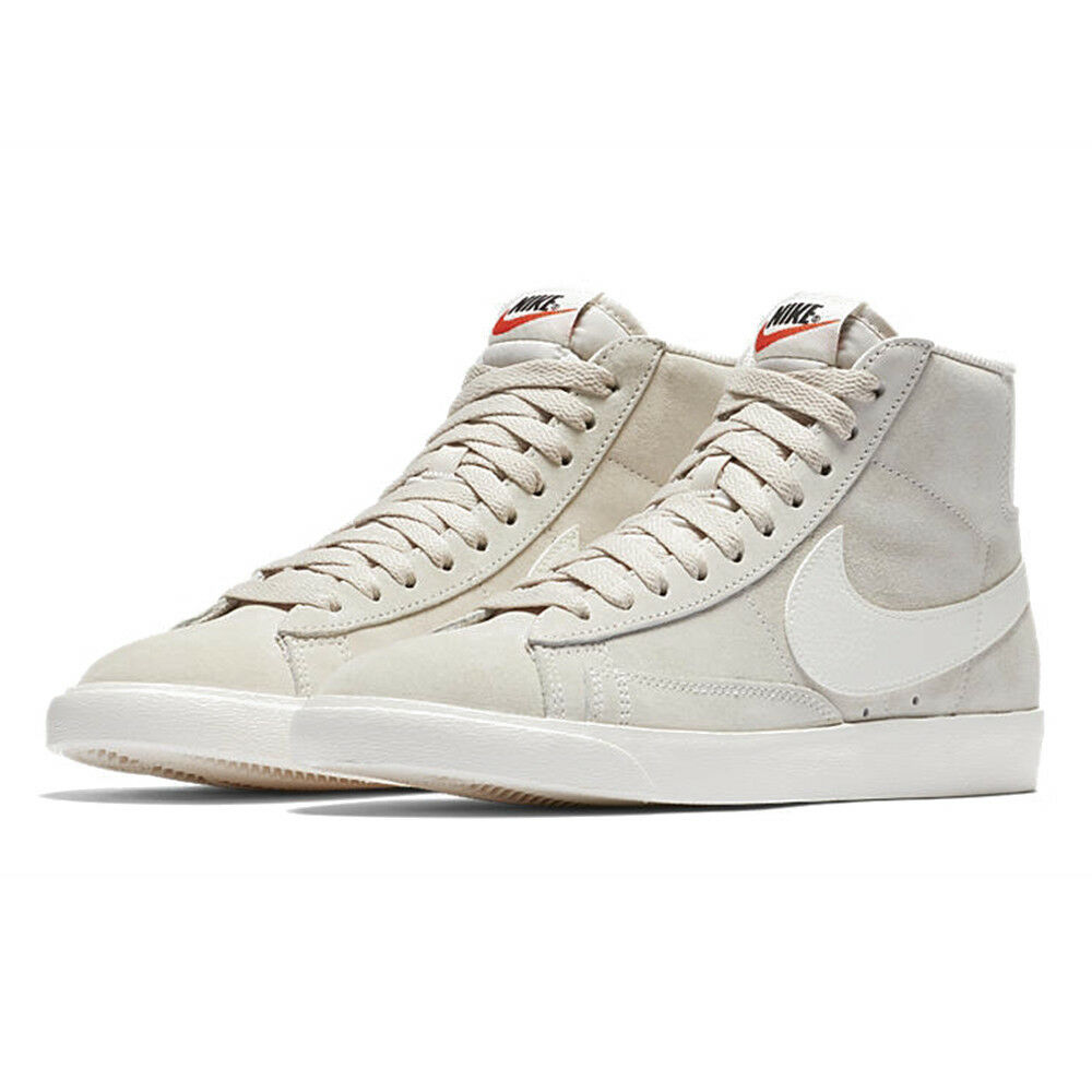 6cd6f114adc13 Details about Nike Blazer Mid Vintage Suede Sneakers Desert Sand Sail  Womens Premium Trainers