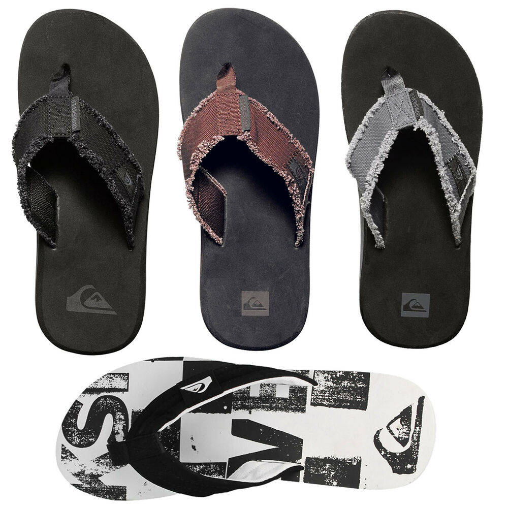 4c01ee4bb46 Details about Quiksilver Men s Flip Textile Flops Toe post Shower Slippers  Slippers New