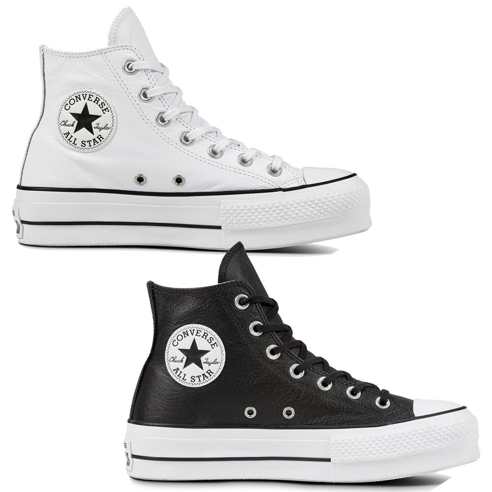 980f5a5d352f Details about Converse Chuck Taylor all Star Lift Clean Hi Women s Shoes  Leather Platform ...
