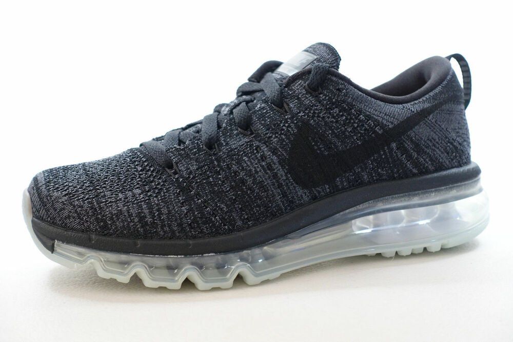 FEMMES Nike Flyknit Max Chaussures Noir Gris Anthracite 620659 010 Pdsf | eBay