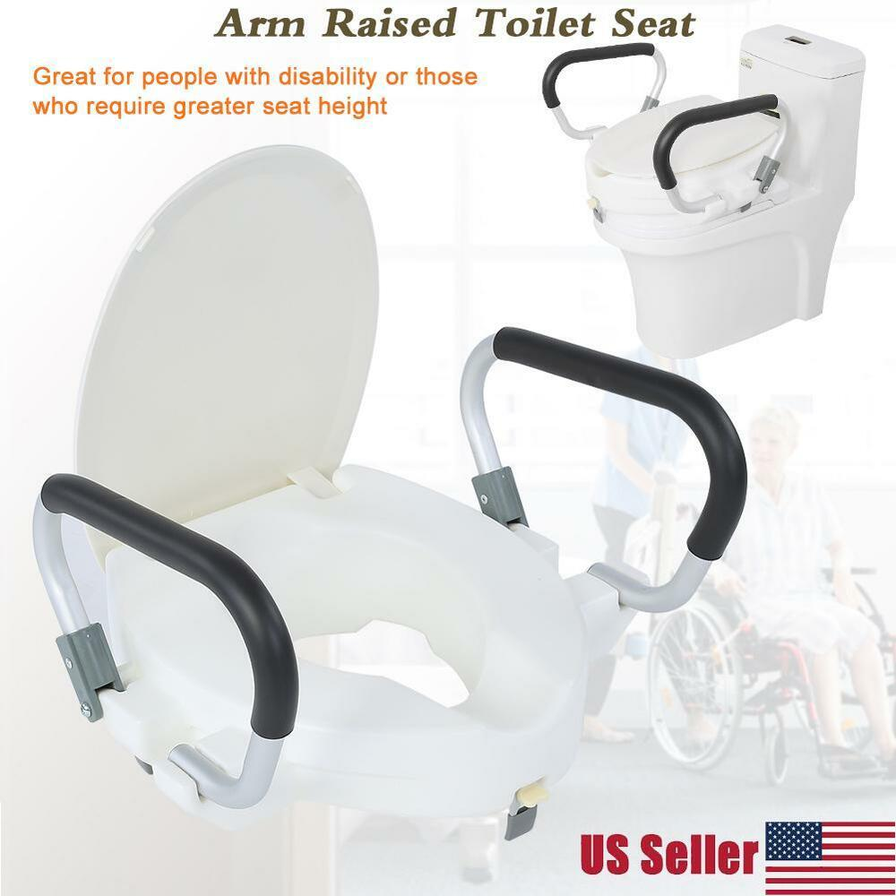 Drive Raised Toilet Seat With Arms.New Drive Medical Elevated Raised Toilet Seat With Removable Padded