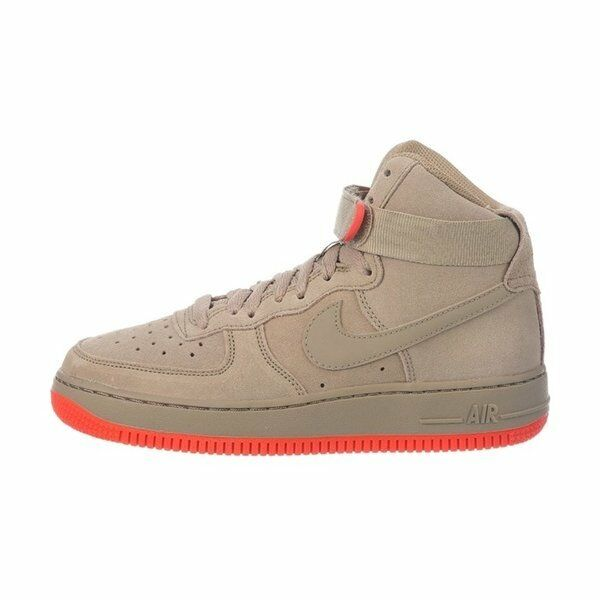 super popular fa20f f1fc3 Details about Nike Air Force 1 High GS   653998 201 Khaki Rush Coral Big  Kids SZ 4 - 7