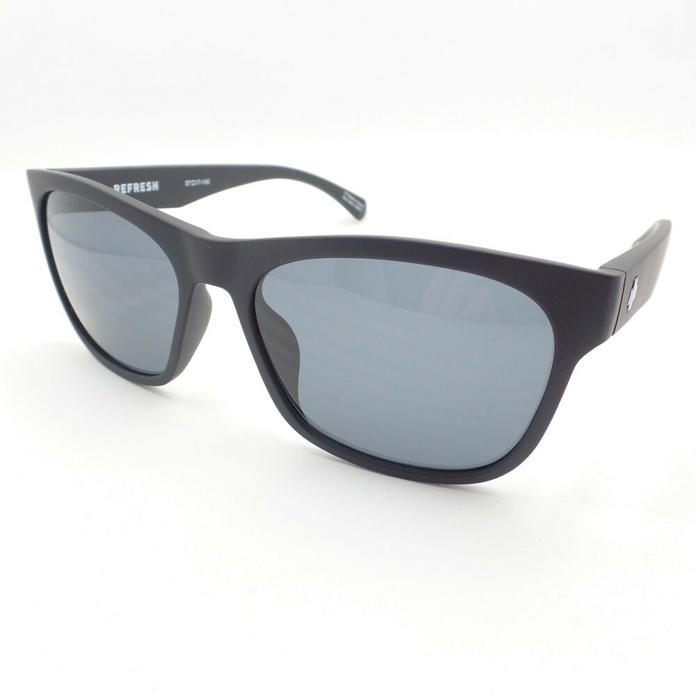 2b531330154a4 Details about Spy Optics Sundowner Matte Black Grey 57mm New Sunglasses  Authentic