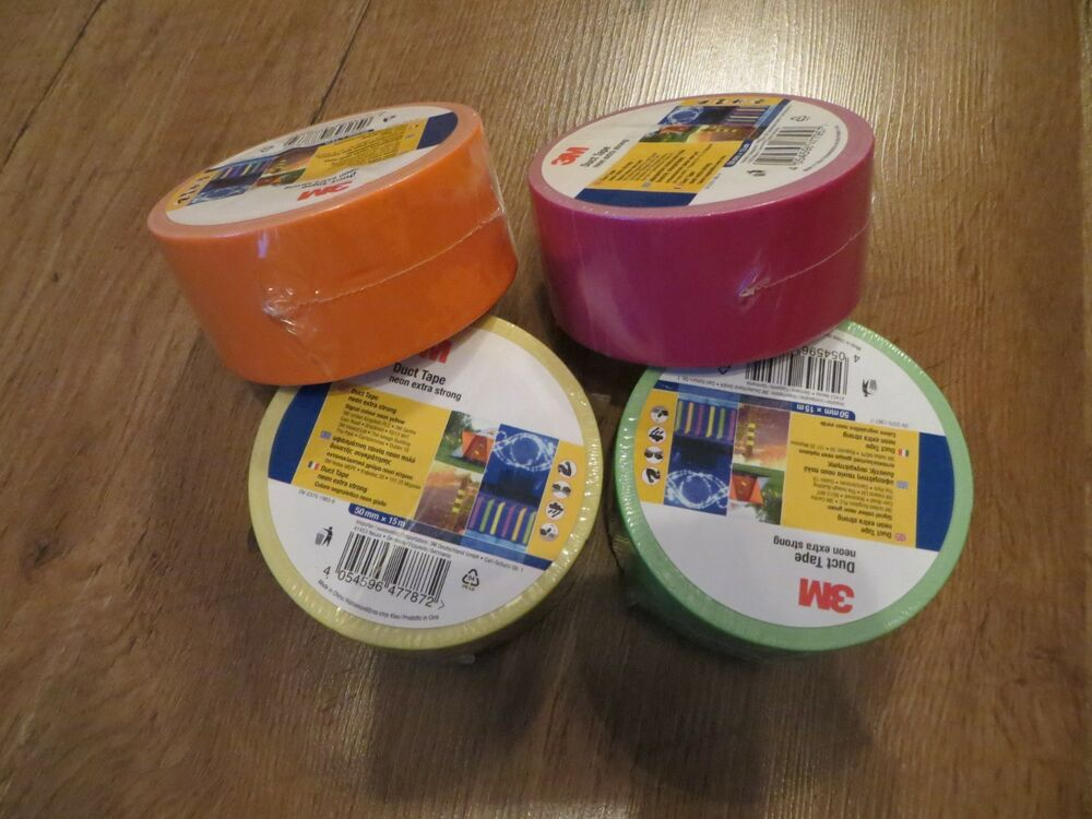 605f0f775c22 4 X 3M OUTDOOR STRONG DUCT TAPE 50mm x 15M WEATHER RESISTANT NEON BRIGHT  COLOUR