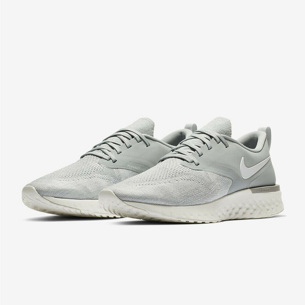 134f07ec01b Details about NIKE Odyssey React Flyknit 2 AH1015-001 Grey   White New Mens  Running Shoes