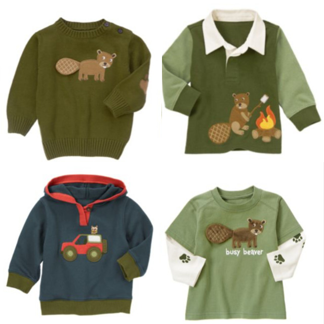 9de7fbf13 Details about Gymboree Camp Yosemite 3-6-12-18 Shirts Tops U Pick Beaver  Green