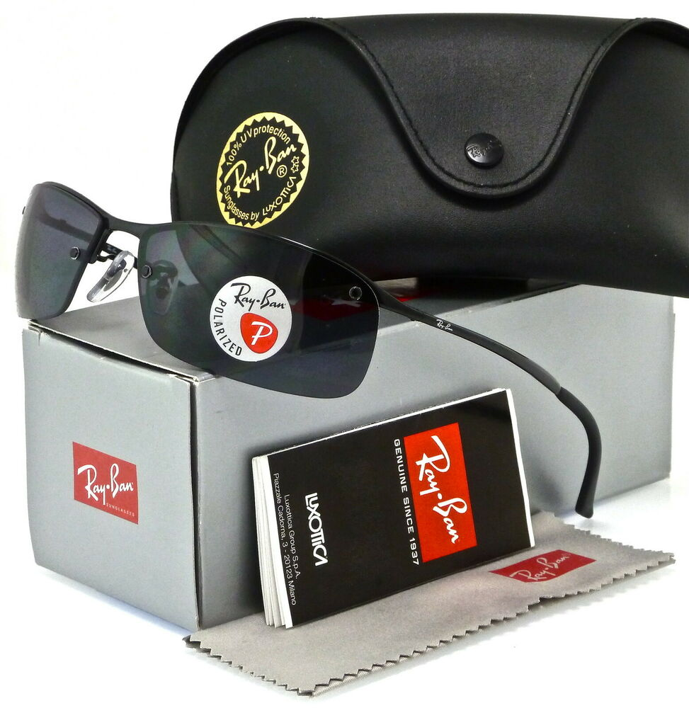 182ea9d290e Details about RAY-BAN TOP BAR RB3183 002 81 63MM BLACK   POLARIZED GREY  GRADIENT