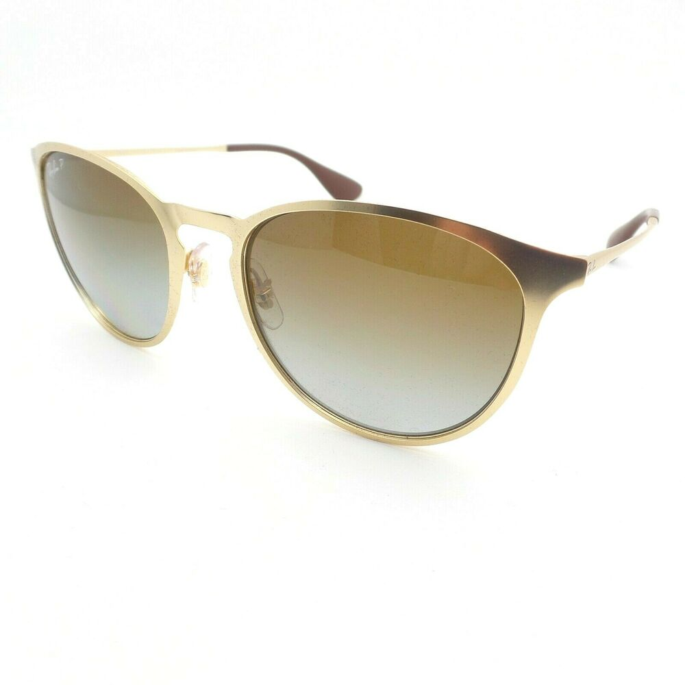 8b569cffe7c Ray Ban RB 3539 112 T5 Matte Gold Brown Grey Polarized Sunglasses New  Authentic 8053672587692