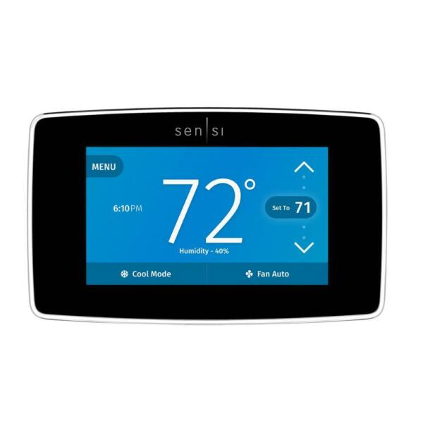 Emerson Sensi Touch Wi-Fi Thermostat with Touchscreen Color Display ST75