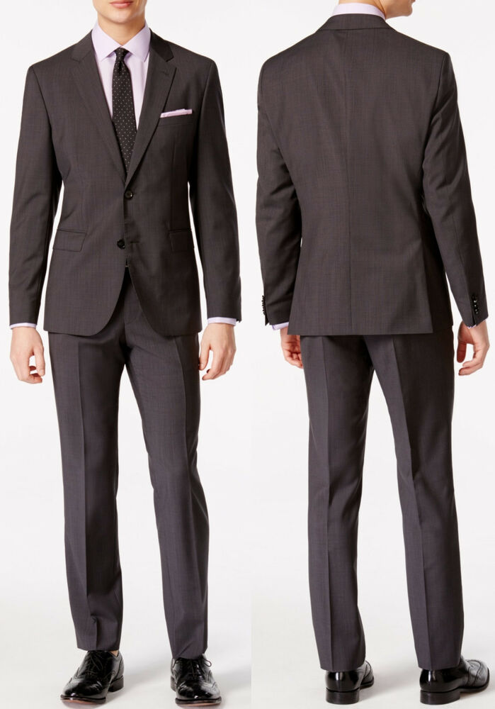 f9ef6cffa Details about NWT Hugo Boss Black Label By Hugo Boss Micro Pattern Extra  Slim Fit Suit Sz 38S