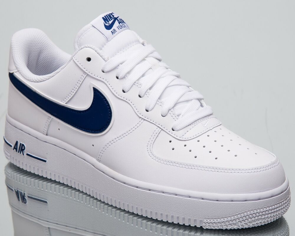 the best attitude 71241 8c4b0 Details about Nike Air Force 1  07 3 New Men s Lifestyle Shoes White Deep  Royal Low AO2423-103