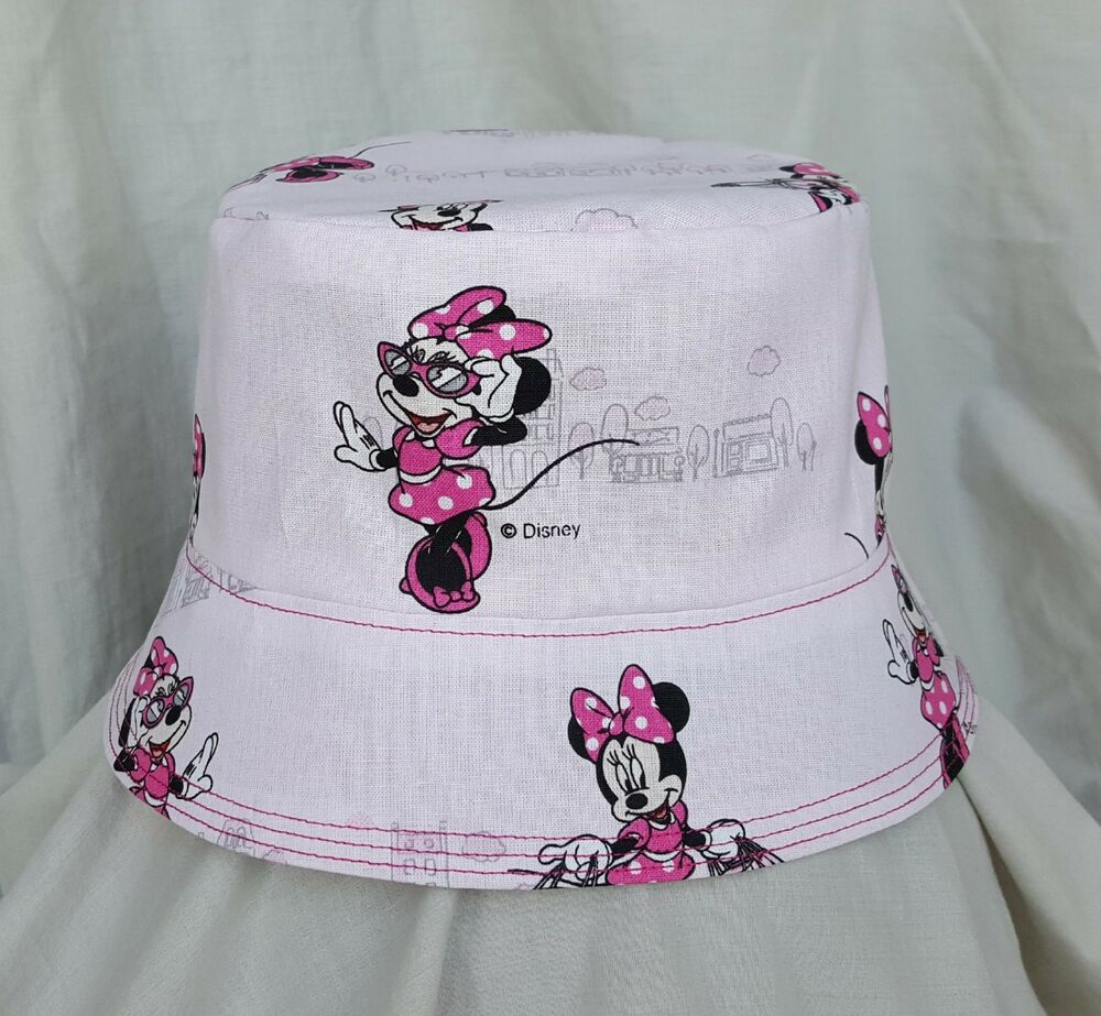 Details about NEW GIRLS PINK MINNIE MOUSE BUCKET HAT SUN HAT. SZ M L.  DISNEY. HOLIDAYS. 6ff838916f4