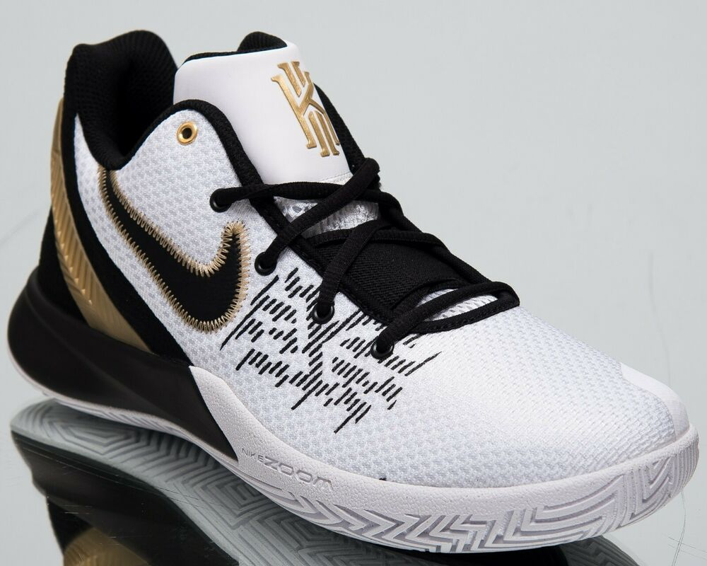 f8e0b929327a Details about Nike Kyrie Flytrap II New Men s Basketball Shoes White  Metallic Gold AO4436-170