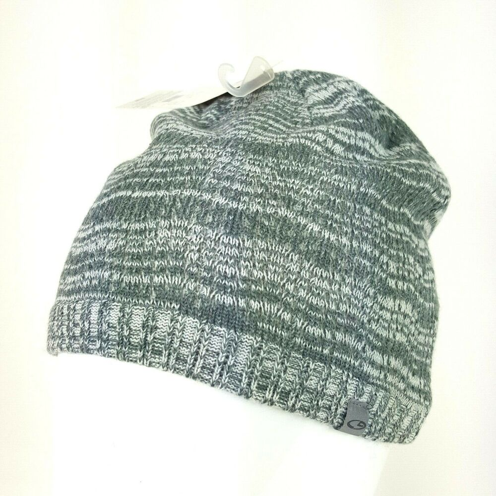 ebc51c6aa6a914 Details about Champion Duo Dry Gray White Knit Stocking Cap Beanie Winter  Hat One Size NWT