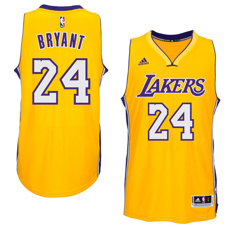 bc5fd1a08 Details about Kobe Bryant Los Angeles Lakers  24 Swingman Jersey Yellow