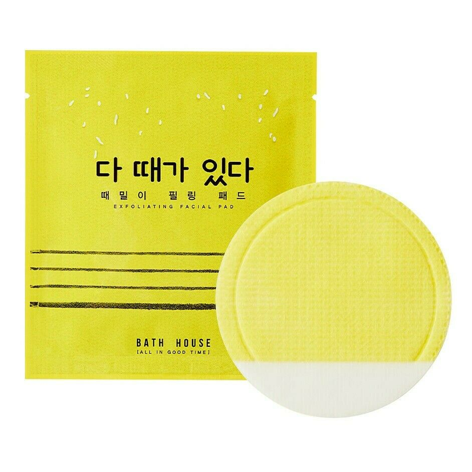 Details about Bath House Exfoliating Facial Pad K-beauty Korean Face Skin  Care, Box of 10 Pads