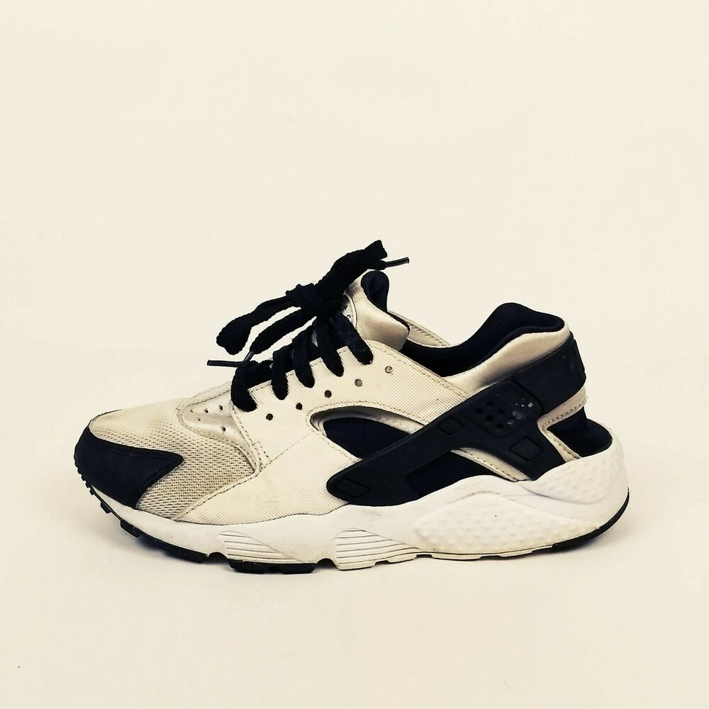 best sneakers 72205 f3058 Details about Nike Huarache Run GS Running Shoes Youth Size 5.5Y Womens 7  White 654275-103