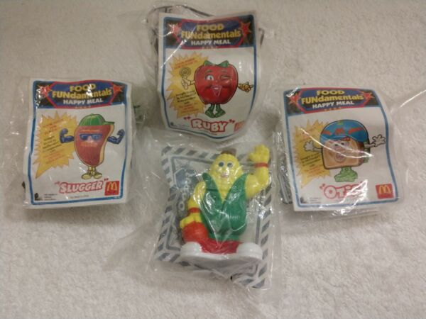McDonald's Happy Meal Toys - 1993 Food Fundamentals - Set of 4 - NEW SEALED