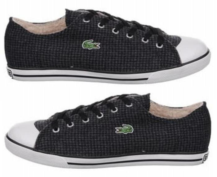 65486cb457037d Details about NIB Lacoste Black   Dark Grey Low-Top Sneakers Trainers  11(US)   11.5(US)