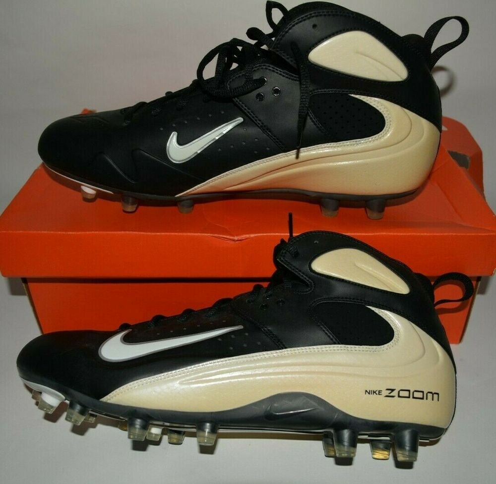 9ae3beeab641 Details about NIKE AIR ZOOM BLADE PRO TD CLEATS FOOTBALL 315791 101 MENS  ADULT SHOES WHT BLK