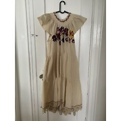 Ulla Johnson Pinar Dress Natural Size 8 Would Fit A 10 Brand New With Tag