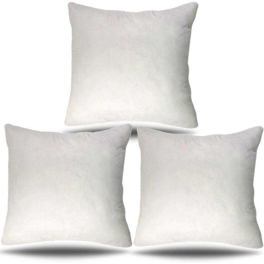 18x18 Throw Pillow Insert.Set Of 3 18x18 Pillow Insert Decorative Couch Sham Polyester 18 Inch Usa Made Ebay
