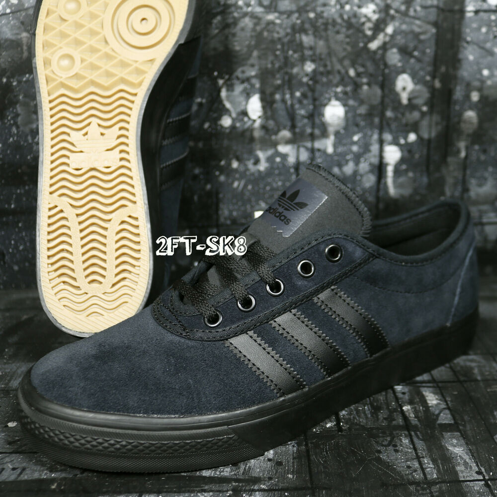 Details about ADIDAS ADI-EASE BLACK BLACK SUEDE MEN S SKATE SHOES   S91181.195 d6555d418773
