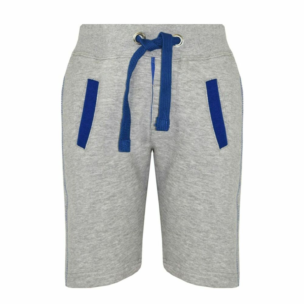 0343857fc135 Details about Kids Boys Shorts Fleece Grey Chino Shorts Knee Length Half  Pant Age 2-13 Years