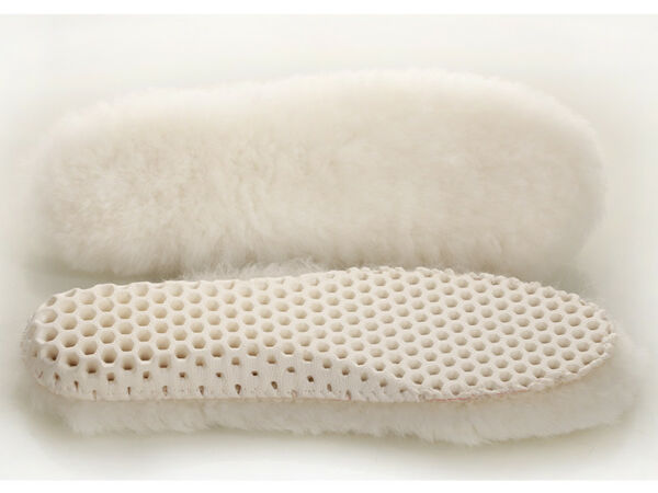 Genuine Sheepskin Lambswool Cushioning Shearling Honeycomb Sport Winter Insoles