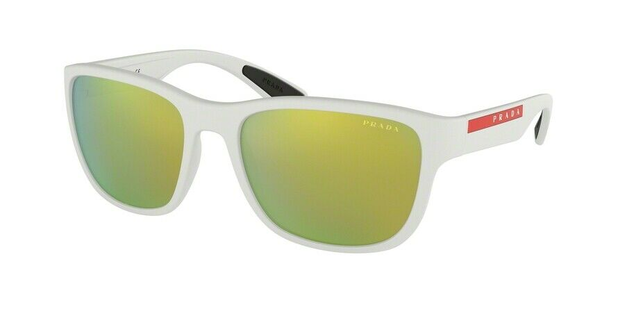 017a30e9e0348 PRADA LINEA ROSSA SPECIAL PROJECT 2018 SPS 01U White Yellow Mirrored  Sunglasses 8053672982787