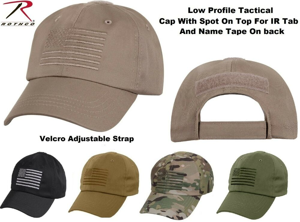 Details about Tactical Operator Cap Military Contractor Hat With  Embroidered US Flag Rothco 460aeda588b