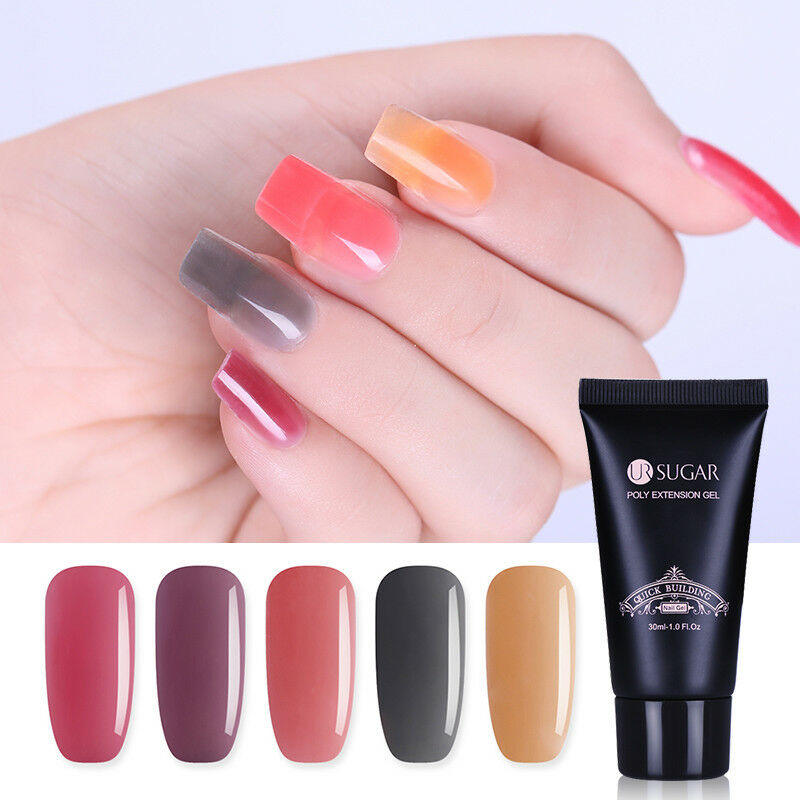 UR SUGAR 30ml Plum Nail Quick Poly Building Gel French Tips Finger ...