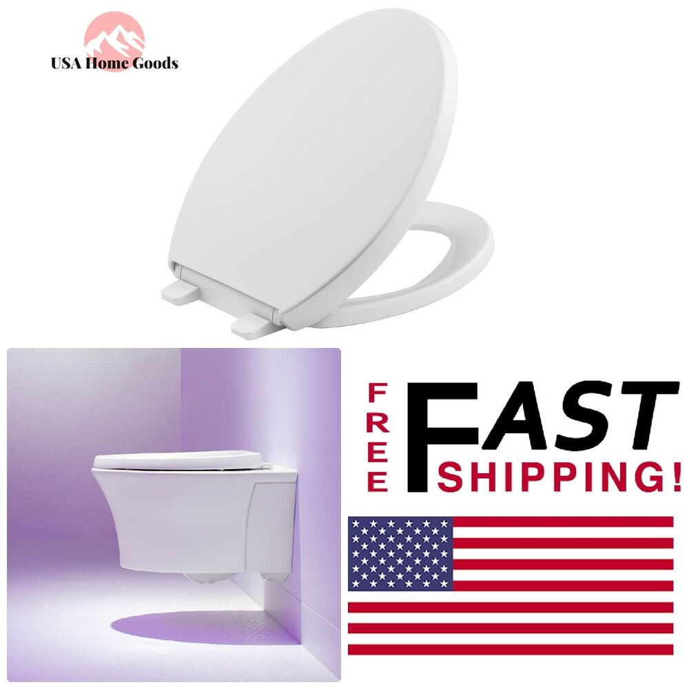 Groovy White Elongated Closed Front Toilet Seat W Grip Tight Bumper Quiet Close Lid 885612146717 Ebay Ocoug Best Dining Table And Chair Ideas Images Ocougorg