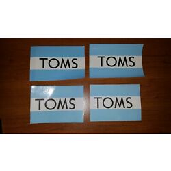 4x TOMS stickers decal