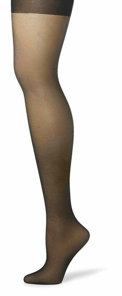 718159deda4 Details about Hanes Women s Silk Reflections Sheer Control Top Pantyhose 3- Pack