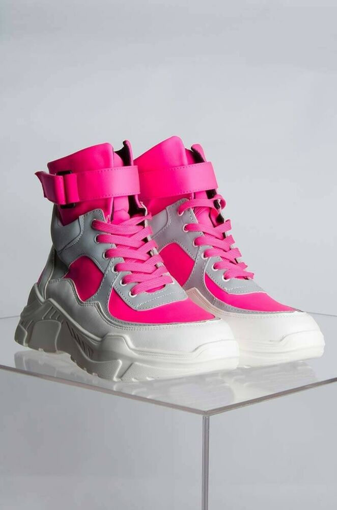 51e970a11999 Cape Robbin Unity Pink Bright White Lace Up Platform Chunky Fashion Sneaker