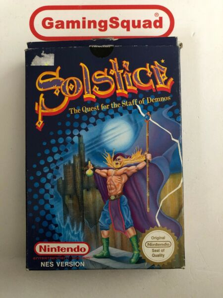 Solstice BOXED Nintendo NES, Supplied by Gaming Squad